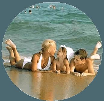 Семейный отдых на море в Крыму.